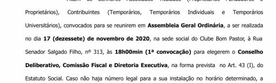 Edital de Convocação – Assembleia Geral Ordinária 2020